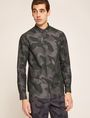 ARMANI EXCHANGE REGULAR-FIT GEO CAMO SHIRT Printed Shirt Man f