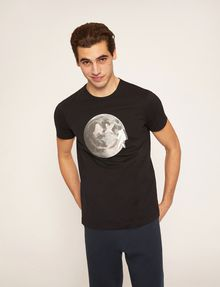 ARMANI EXCHANGE SMILES FROM SPACE SLIM LOGO TEE Graphic T-shirt Man f