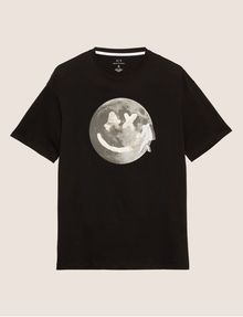 ARMANI EXCHANGE SMILES FROM SPACE SLIM LOGO TEE Graphic T-shirt Man r
