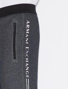 ARMANI EXCHANGE BICOLOR LOGO JOGGER Fleece Pant [*** pickupInStoreShippingNotGuaranteed_info ***] b