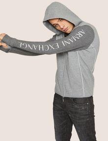 ARMANI EXCHANGE CLASSIC BICOLOR LOGO HOODIE Sweatshirt Man a