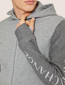 ARMANI EXCHANGE CLASSIC BICOLOR LOGO HOODIE Sweatshirt Man b