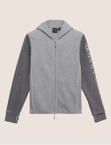ARMANI EXCHANGE CLASSIC BICOLOR LOGO HOODIE Sweatshirt Man r