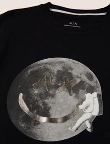 ARMANI EXCHANGE BOYS SLIM-FIT FACE FROM SPACE TEE Logo T-shirt Man d
