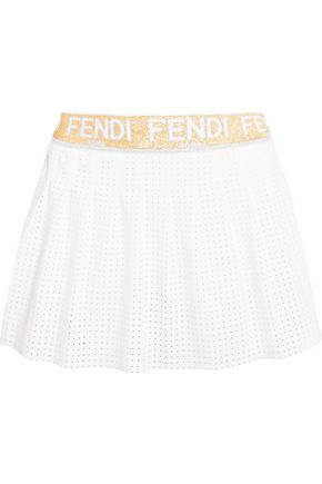 FENDI Perforated jersey tennis skirt