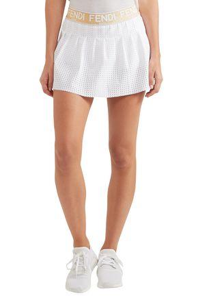 FENDI Perforated jersey tennis skirt