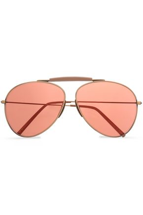 ACNE STUDIOS Aviator-style burnished gold-tone sunglasses