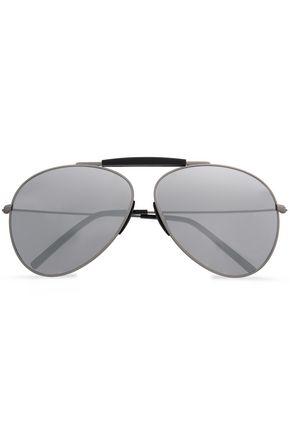ACNE STUDIOS Aviator-style burnished gold-tone sunglasses