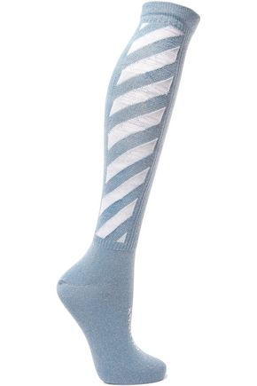 OFF-WHITE™ Striped cotton-blend socks