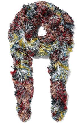 ミッソーニ フリンジ付き メタリック ニット スカーフ