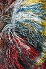 MISSONI Fringed metallic knitted scarf