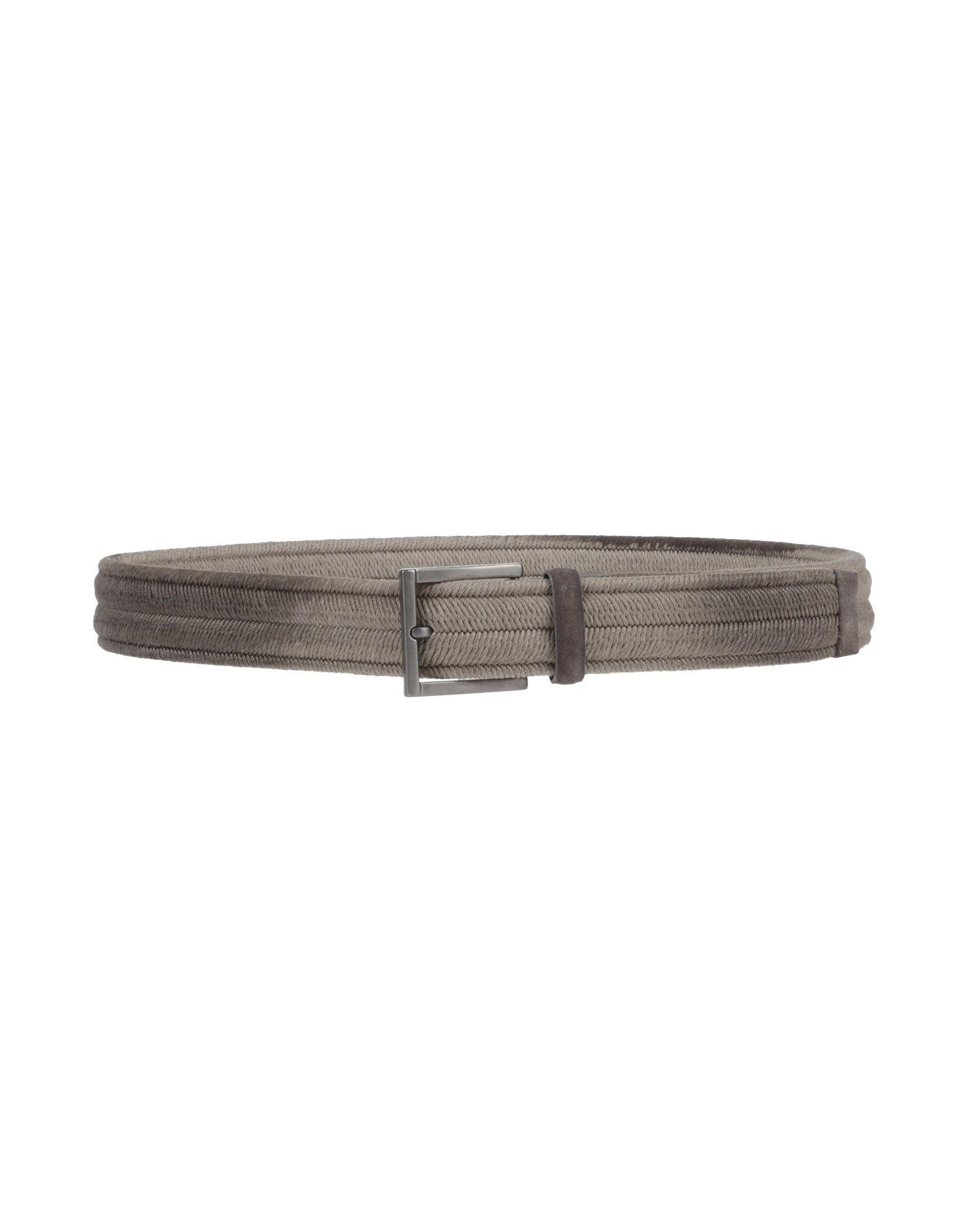 《送料無料》ORCIANI メンズ ベルト グレー 95 紡績繊維
