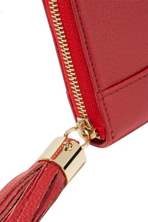 SEE BY CHLOÉ Tasseled pebbled-leather continental wallet