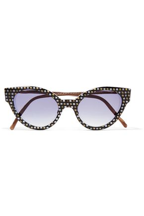 CUTLER AND GROSS Cat-eye printed acetate sunglasses