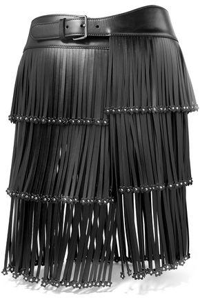 ALAÏA Embellished fringed leather belt