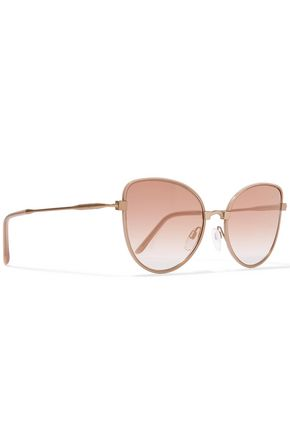 CUTLER AND GROSS Cat-eye acetate and gold-tone sunglasses