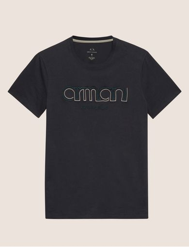 EMBROIDERED SLIM LOGO TEE