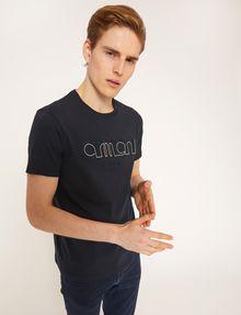 ARMANI EXCHANGE SCHMAL GESCHNITTENES T-SHIRT MIT LOGOSTICKEREI Logo-T-Shirt Herren a