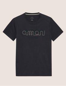 ARMANI EXCHANGE SCHMAL GESCHNITTENES T-SHIRT MIT LOGOSTICKEREI Logo-T-Shirt Herren r