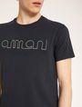 ARMANI EXCHANGE SCHMAL GESCHNITTENES T-SHIRT MIT LOGOSTICKEREI Logo-T-Shirt [*** pickupInStoreShippingNotGuaranteed_info ***] b