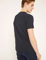 ARMANI EXCHANGE SCHMAL GESCHNITTENES T-SHIRT MIT LOGOSTICKEREI Logo-T-Shirt Herren e