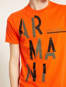 ARMANI EXCHANGE OLIVE DRAB SLIM LOGO TEE Logo T-shirt Man b
