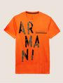 ARMANI EXCHANGE OLIVE DRAB SLIM LOGO TEE Logo T-shirt Man r