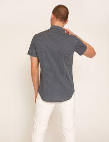 ARMANI EXCHANGE SLIM-FIT AX MICRO-PRINT SHIRT Printed Shirt Man e