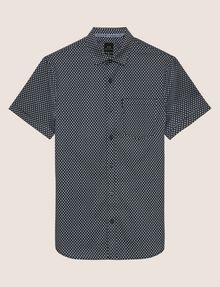 ARMANI EXCHANGE SLIM-FIT AX MICRO-PRINT SHIRT Printed Shirt Man r