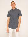 ARMANI EXCHANGE SLIM-FIT AX MICRO-PRINT SHIRT Printed Shirt Man f
