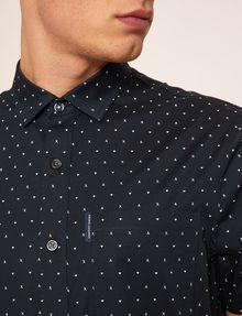 ARMANI EXCHANGE SLIM-FIT AX MICRO-PRINT SHIRT Printed Shirt Man b