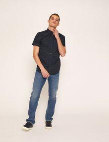 ARMANI EXCHANGE SLIM-FIT AX MICRO-PRINT SHIRT Printed Shirt Man d
