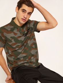 ARMANI EXCHANGE GEO CAMO STENCILED POLO SHORT SLEEVES POLO Man a