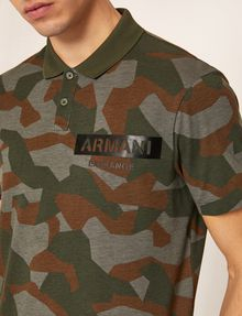ARMANI EXCHANGE GEO CAMO STENCILED POLO SHORT SLEEVES POLO Man b