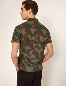 ARMANI EXCHANGE GEO CAMO STENCILED POLO SHORT SLEEVES POLO Man e