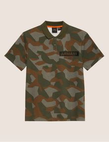 ARMANI EXCHANGE GEO CAMO STENCILED POLO SHORT SLEEVES POLO Man r