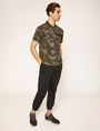 ARMANI EXCHANGE GEO CAMO STENCILED POLO SHORT SLEEVES POLO Man d