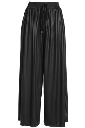 KORAL Satin-jersey wide-leg pants