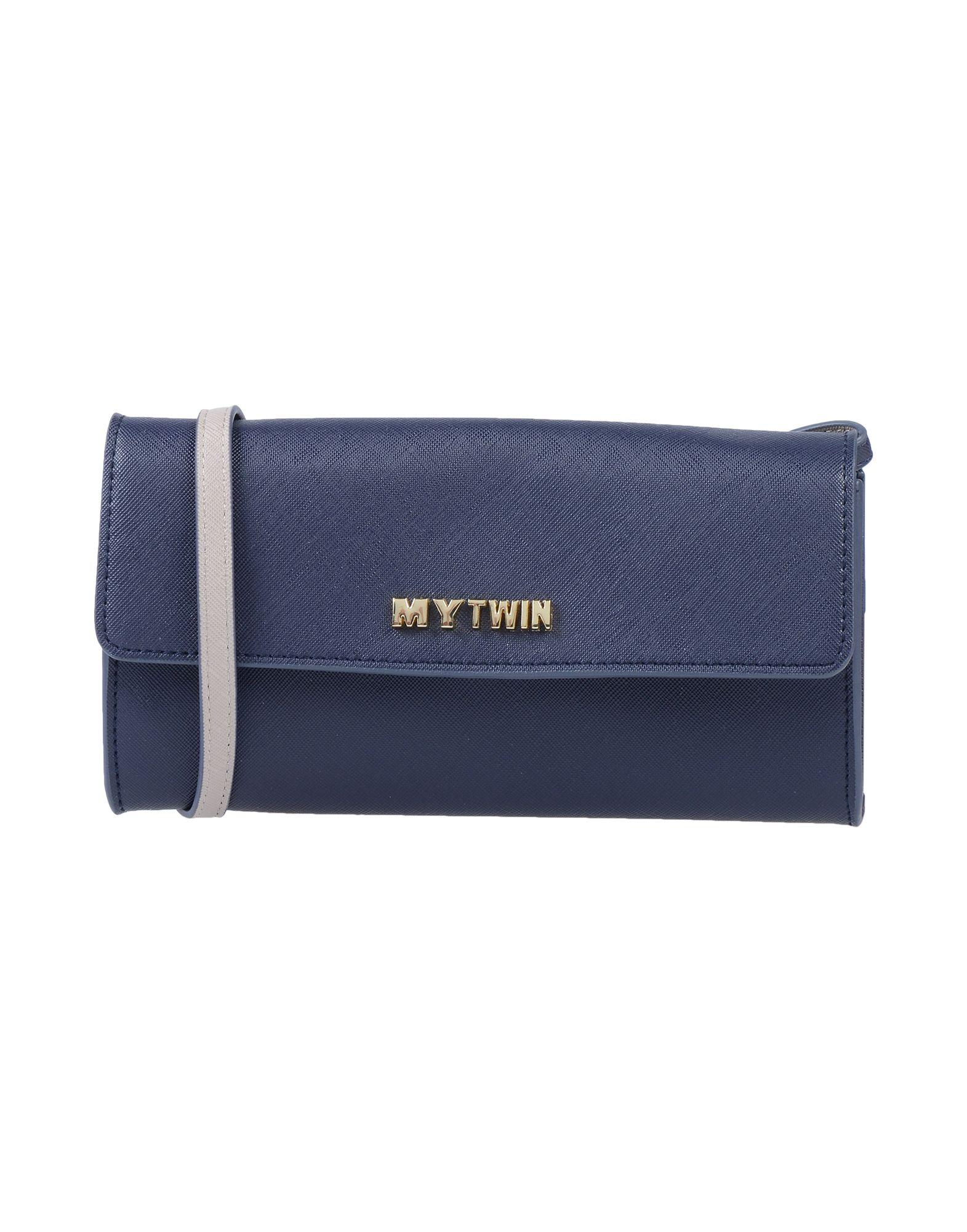 《送料無料》MY TWIN by TWIN SET レディース ハンドバッグ ダークブルー ポリウレタン 100%
