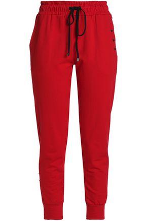 KORAL Embellished cotton track pants