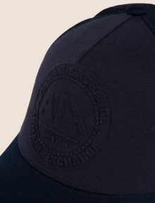 ARMANI EXCHANGE EMBOSSED LOGO MESH PANELED HAT Hat Man d