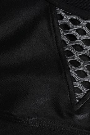 KORAL Trifecta mesh-paneled coated stretch sports bra