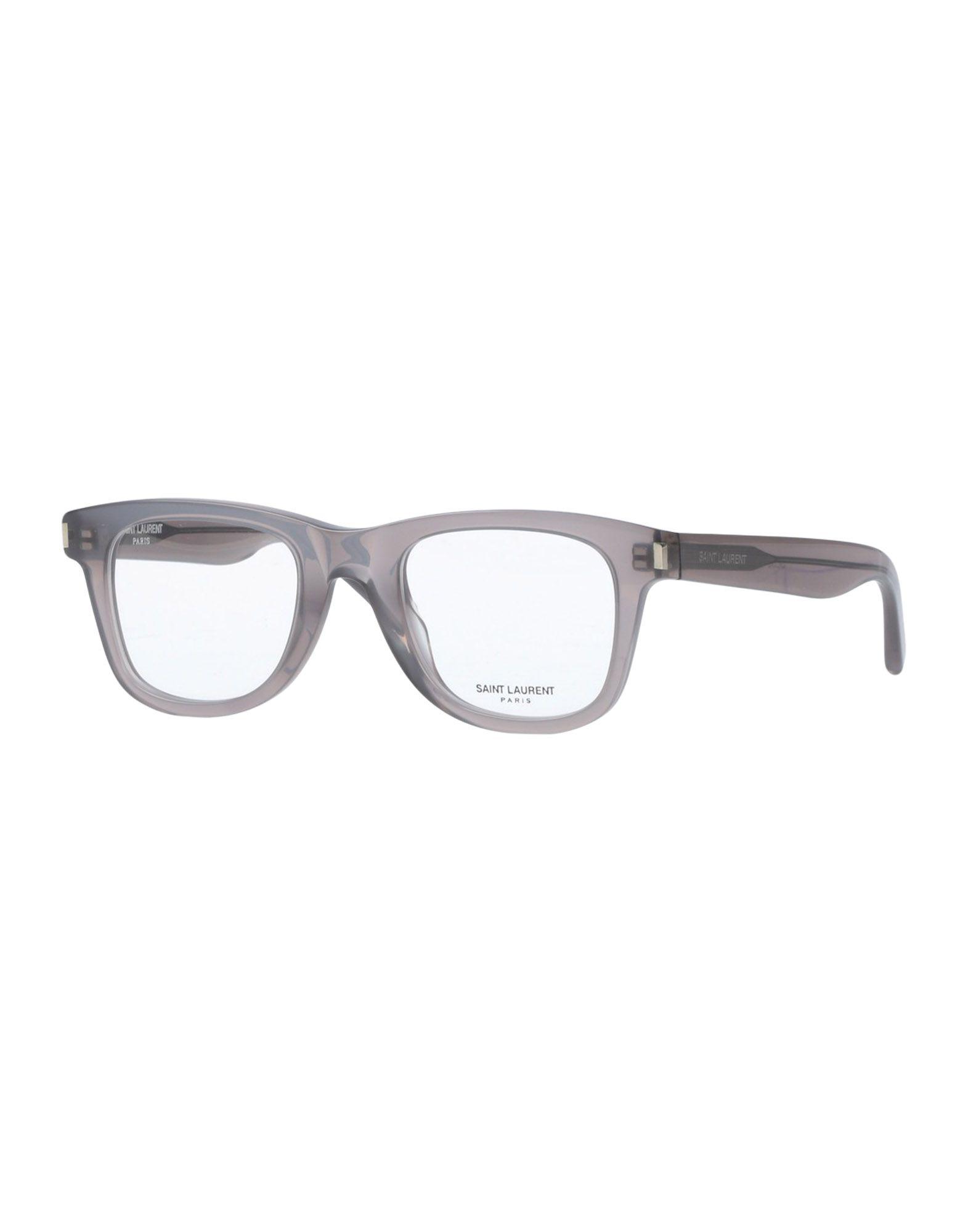 SAINT LAURENT Herren Brille Farbe Grau Größe 1
