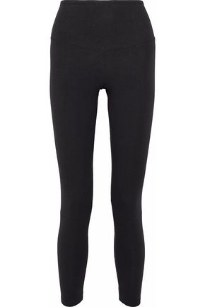 YUMMIE by HEATHER THOMSON Lace-up stretch-cotton jersey leggings