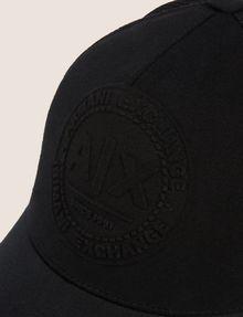 ARMANI EXCHANGE EMBOSSED LOGO MESH PANELED HAT Hat Man d
