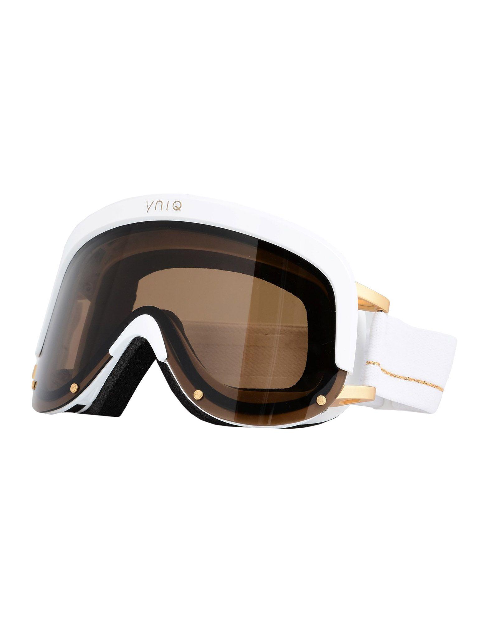 YNIQ Солнечные очки мини лыжи большие из морозостойк пластика с 2мя текстил ремешками 41см