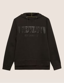 ARMANI EXCHANGE HIGH-SHINE STENCIL LOGO HOODIE Sweatshirt Man r