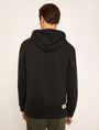 ARMANI EXCHANGE HIGH-SHINE STENCIL LOGO HOODIE Fleece Top Man e