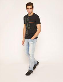 ARMANI EXCHANGE OLIVE DRAB SLIM LOGO TEE Logo T-shirt Man d