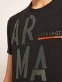 ARMANI EXCHANGE OLIVE DRAB SLIM LOGO TEE Logo T-shirt Man b